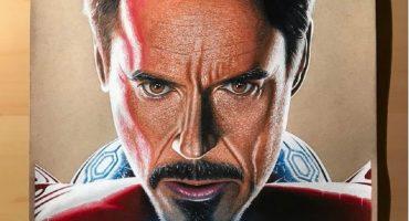 Aunque no lo crean, este increíble dibujo de Iron Man tomó 4 meses para completarse