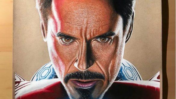 Dibujo de Iron Man súper detallado