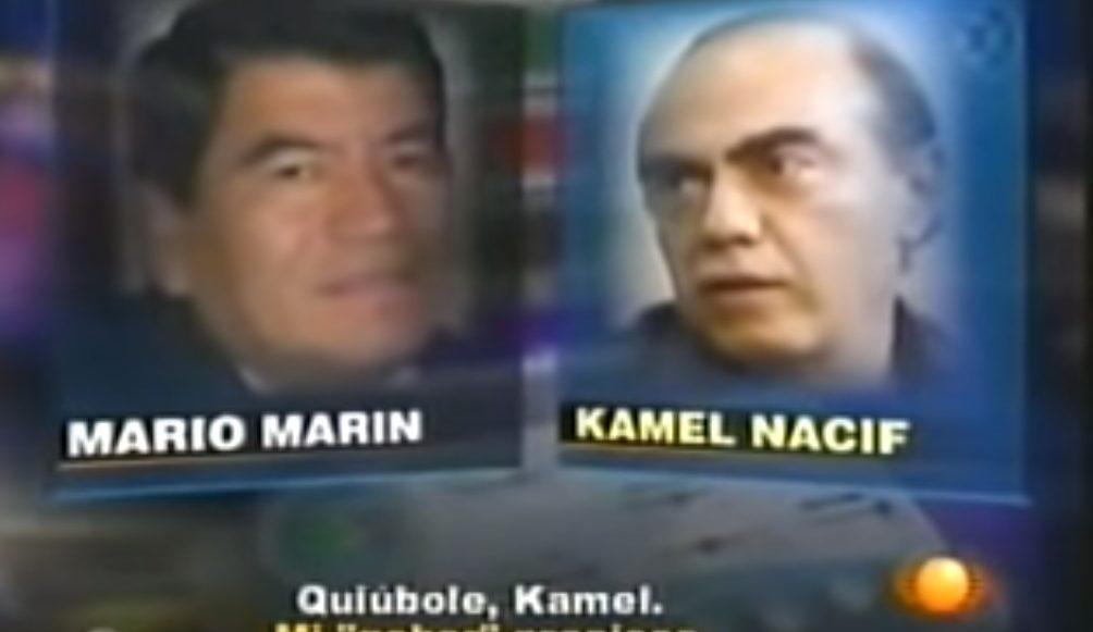 Kamel Nacif y MArio Marín