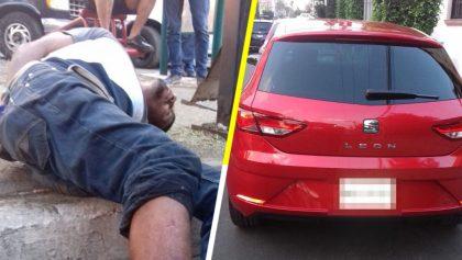 ¿El Karma? Auto atropella a ladrón que acababa de asaltar a otro vehículo, en Pantitlán
