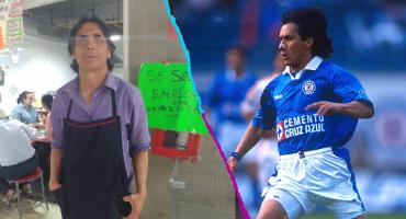 Lupillo Castañeda, campeón con Cruz Azul, ahora trabaja en una cocina económica