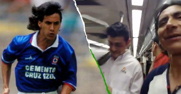 Lupillo Castañeda armó debate de futbol con usuarios del Metro