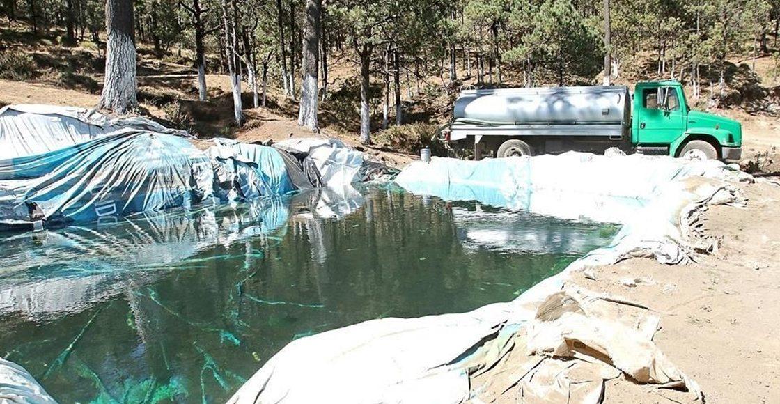 ¡Como si nada! Piperos ordeñan manantial en zona protegida del Ajusco y la venden hasta en 3 mil pesos