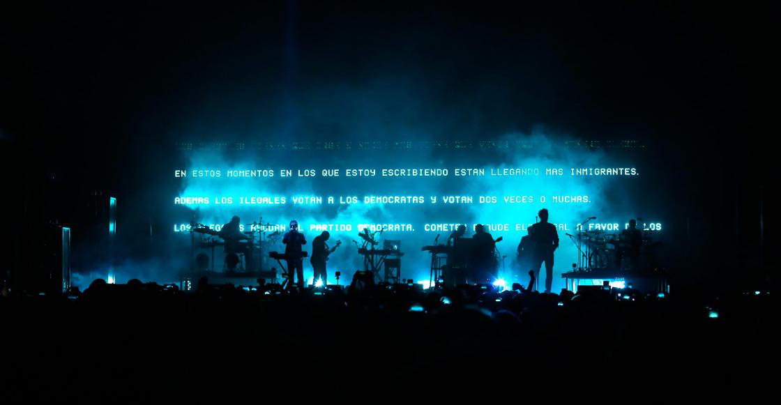 Massive Attack no se mostró indiferente a la problemática de México en Ceremonia 2019