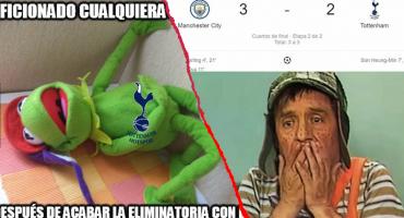Los memes del drama entre Manchester City y Tottenham en la Champions