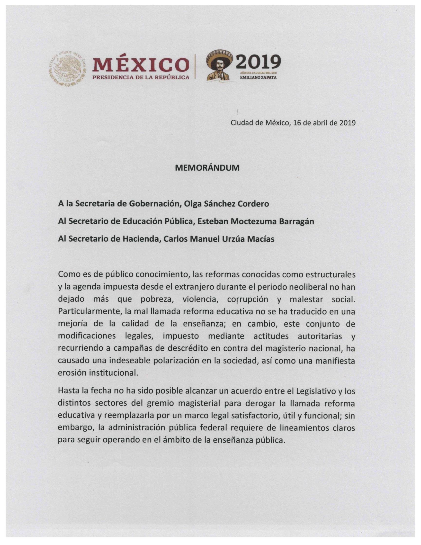 memo-amlo-reforma-educativa-2019-primera-hoja