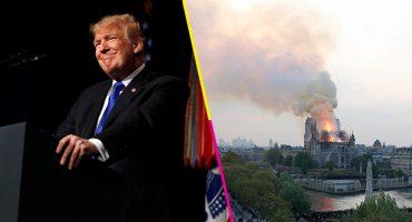 Con 'grandes expertos', Trump ofrece su ayuda para la reconstrucción de Notre-Dame