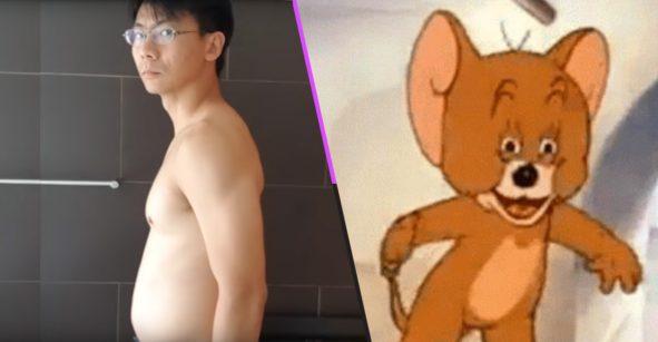 ¡OLV! Este hombre siguió la rutina de un personaje de anime… y así es como luce ahora