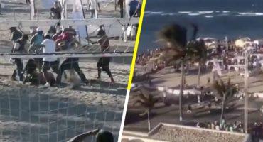 Ni porque es Semana Santa: Jóvenes arman la campal en playas de Veracruz 😱