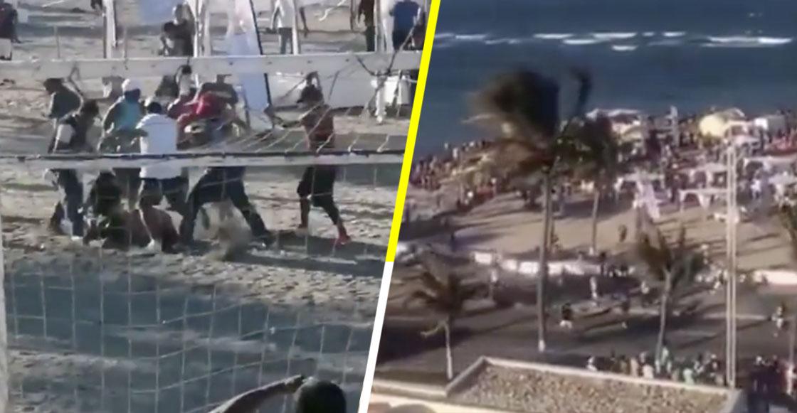 Ni porque es Semana Santa: Jóvenes arman la campal en playas de Veracruz