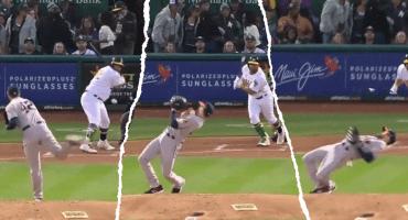 El espectacular movimiento a lo Matrix del pitcher de los Astros para evitar un pelotazo a 150 KM/H