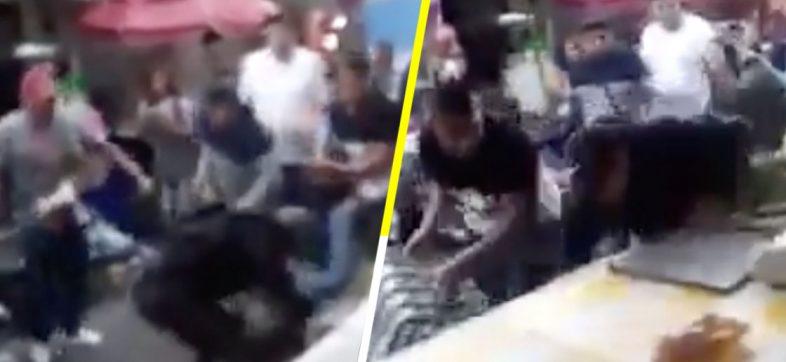 Ni ellos se salvan: Supuestos ladrones golpean brutalmente a un policía en La Merced