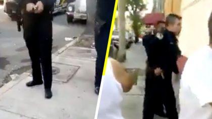 Policía dispara su arma frente a vecinos de la colonia Peralvillo y lo captan en video