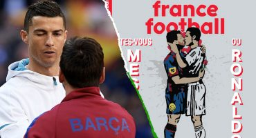 La polémica portada de 'France Football' con Messi y Cristiano besándose y un 'propósito oculto'
