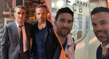 Jefe de prensa del Barcelona le pidió a Rafa Puente borrar su foto con Messi