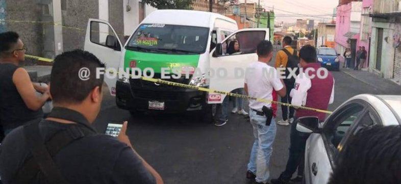 Asaltantes asesinan a pasajero de una combi por no traer nada de valor
