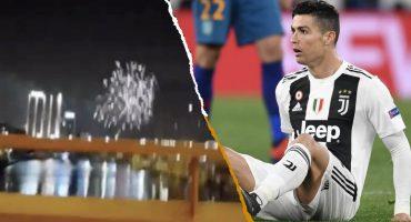 Fans del Ajax 'armaron la fiesta' con fuegos artificiales en el hotel de la Juventus