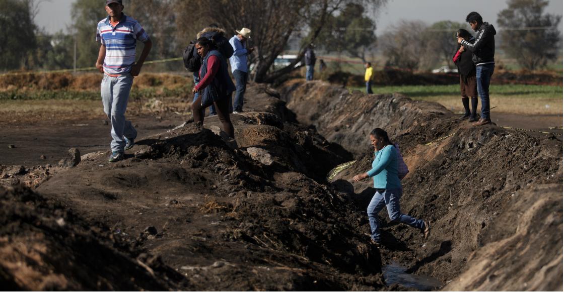 """Tras la explosión del ducto, Profepa determina """"daños irreversibles"""" en el suelo de Tlahuelilpan"""