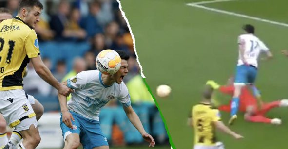 Técnico del Vitesse tacha de 'clavadista' al 'Chucky' Lozano por fingir penal