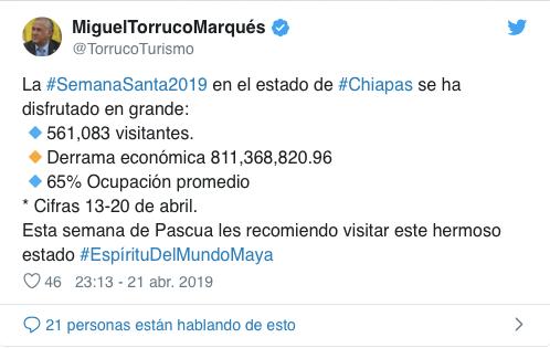 Tweet Miguel Torruco