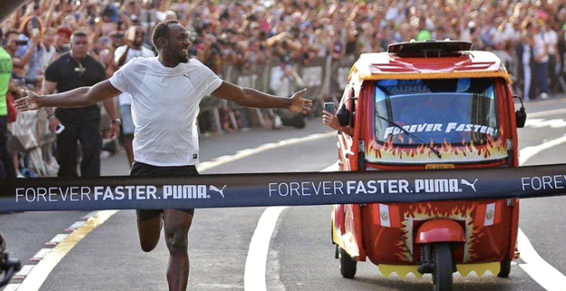 La divertida y épica carrera entre Usain Bolt y un mototaxi