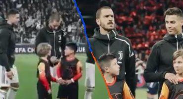 Cristiano Ronaldo se fue de la Champions League pero antes les cumplió su sueño a estos niños