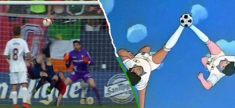 Golazo de doble chilena Osasuna