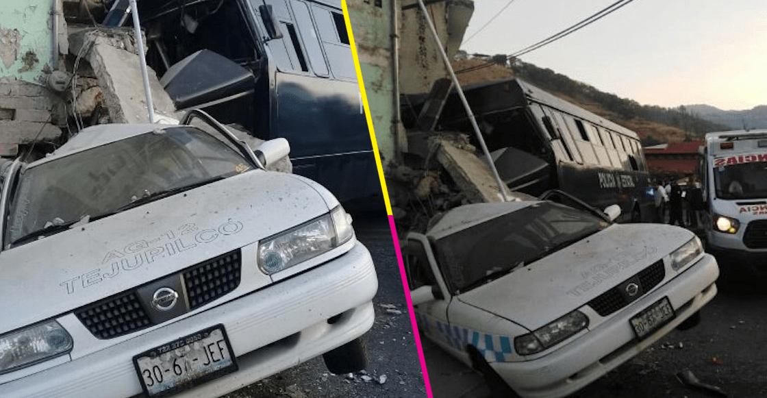 En Edomex, camión de la Secretaría de Seguridad choca y 2 personas pierden la vidaa de Seguridad choca y 2 personas pierden la vida