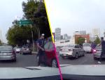 Otra vez en Santa Fe: captan robo a mano armada contra conductor de un Audi