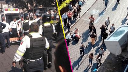 Balacera durante una manifestación en el centro de Cuernavaca; hay heridos