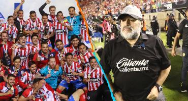 El cántico que los jugadores del Atlético San Luis le dedicaron a Maradona