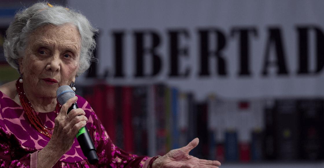 'No he recibido un centavo', dice Poniatowska ante críticas por aparecer en el presupuesto Federal