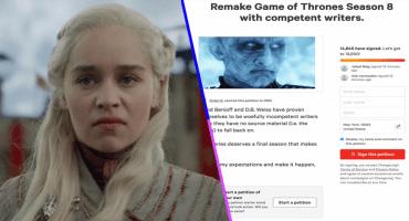 Más de 100 mil personas han firmado en Change.org para repetir la octava temporada de 'Game of Thrones'