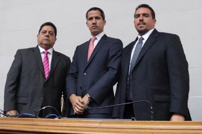 Juan Guaidó y Édgar Zambrano