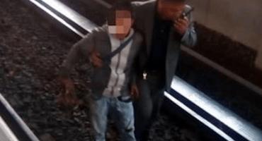 Por querer robar un celular, ladrón cae a las vías del Metro CDMX