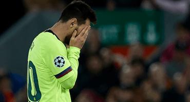 Tan grandote y tan... Messi lloró la eliminación de la Champions League