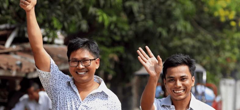 Una victoria para el periodismo: Myanmar libera a los reporteros de Reuters detenidos