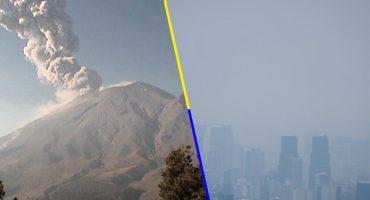 ¿Cómo amanecimos? El Popocatépetl expulsa ceniza; sigue la mala calidad del aire