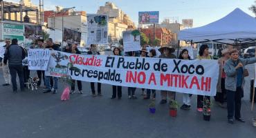 Vecinos de Xoco toman las calles y protestan contra Torre Mítikah