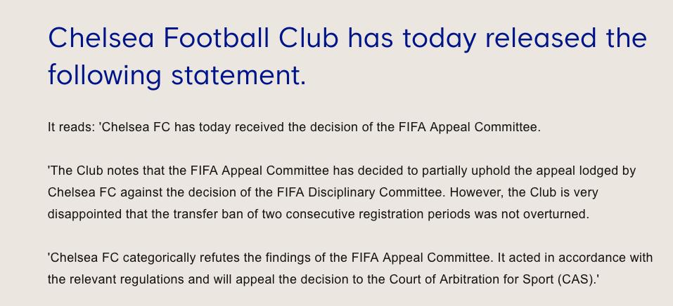 ¡Tiembla el Real Madrid! FIFA mantiene sanción al Chelsea de no poder fichar hasta 2020