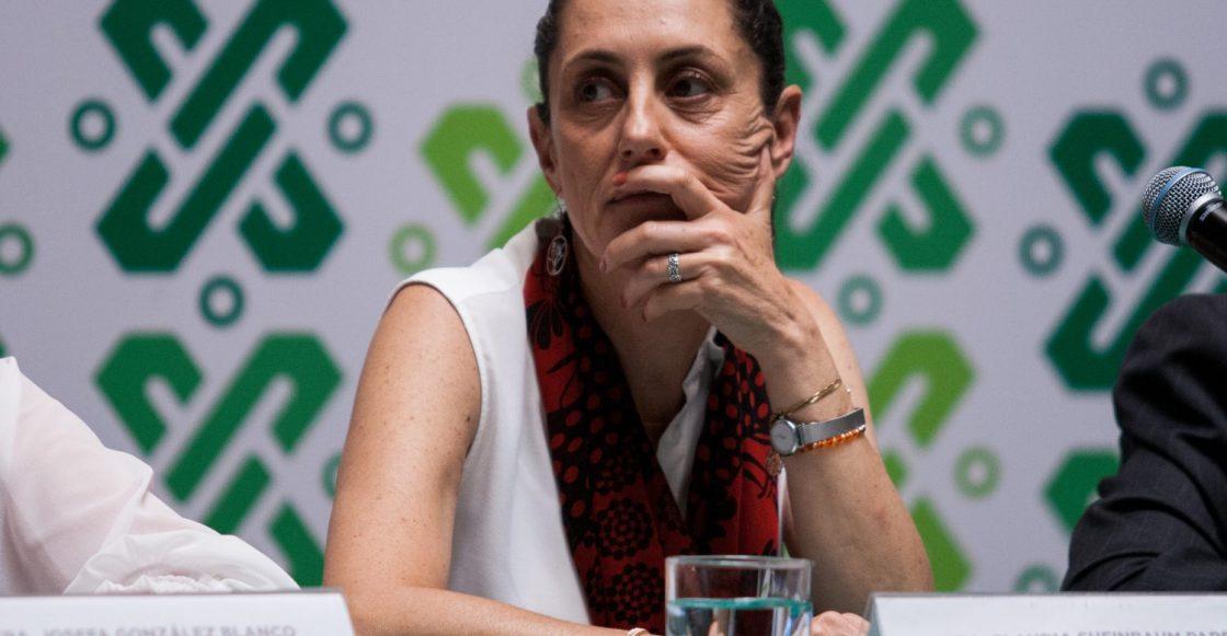CIUDAD DE MÉXICO, 16MAYO2019.- Claudia Sheinbaum, jefa de gobierno de la Ciudad de México, durante la conferencia de prensa para dar detalles sobre las condiciones climatológicas con respecto al tercer día de doble contingencia por ozono y particularmente PM2.5.