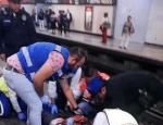 Por rebasar la línea amarilla, usuaria es golpeada por tren del Metro CDMX