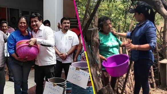 ¡No pos wow! Alcaldes en Chiapas entregan cubetas por el Día de las Madres