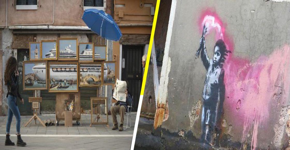 Bansky expuso en la Bienal de Venecia y ¡nadie lo notó!