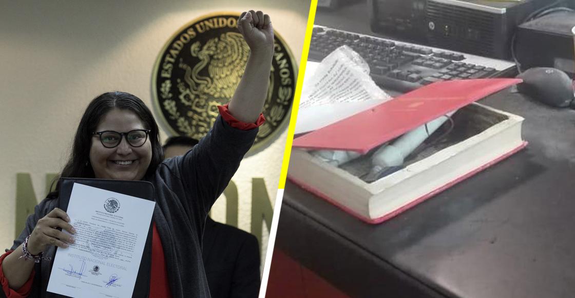 Explota libro-bomba a la senadora de Morena, Citlalli Hernández; se lo habían enviado como regalo