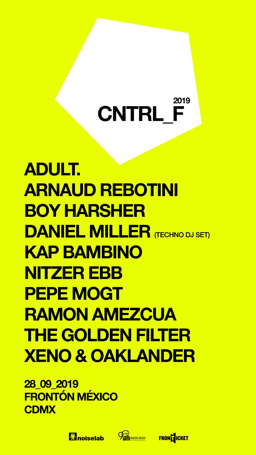 ¡Nitzer Ebb, ADULT. y Boy Harsher como parte del Cntrl Fest 2019!