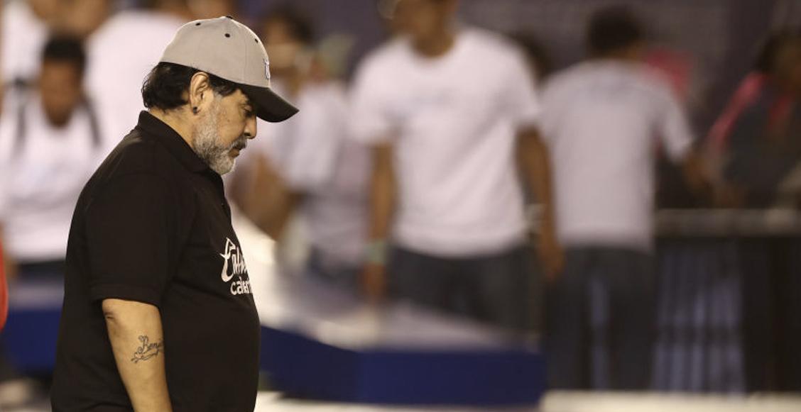 Las 3 condiciones de Maradona para quedarse en Dorados; si no aceptan una, se va