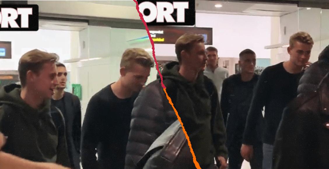 De Jong y de Ligt, captados en el aeropuerto de Barcelona