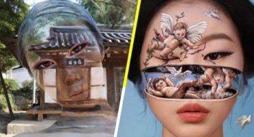 ¡Qué talento! Dian Yoon, la chica que lleva el maquillaje facial a otro nivel 😮