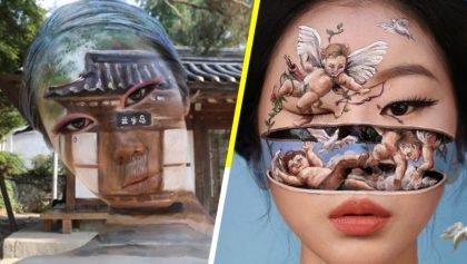 ¡Qué talento! Dian Yoon, la chica que lleva el maquillaje facial a otro nivel